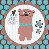 Cute bear teddy vector illustration Royalty Free Stock Photo