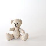 Cute bear-toy polka dot. On the white background Stock Photo