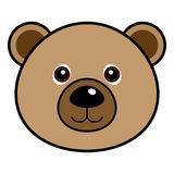 Cute Bear Vector. Cute animal faces in  (One of 25 of them Stock Images