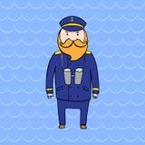 Cute bearded captain of a ship Stock Photography