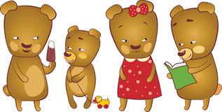 Cute bears Royalty Free Stock Photos