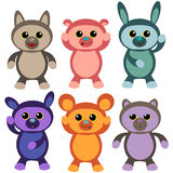 Cute bears. Set of six cute bears royalty free illustration