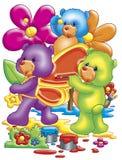 Cute bears Stock Images