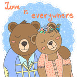 Cute bears vector illustration Stock Photo