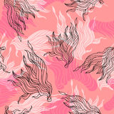 Cute beautiful abstract seamless pattern. Texture, textile, background Vector Illustration
