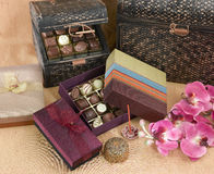 Cute and beautiful of chocolates boxes Stock Photo