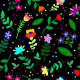 Cute beautiful floral abstract seamless pattern. Texture, textile, background royalty free illustration