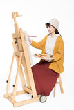 Cute beautiful girl painter Stock Photography