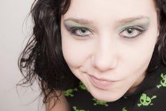 Cute Beautiful Rocker Girl Stock Photo