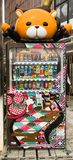 Cheap japanese vending machine with drinks in Tokyo, Kyoto, Osaka stock photo