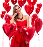 Cute beautiful young woman in love Royalty Free Stock Image