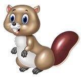 Cute beaver cartoon Stock Photo