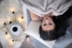 Cute bed stock images