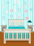 Cute bedroom vector Royalty Free Stock Photos