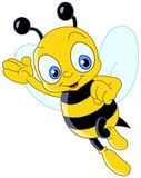 Cute bee. Friendly Cute Bee Waving And Flying Stock Photos