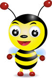 Cute bee. Illustration of a cute bee Stock Images