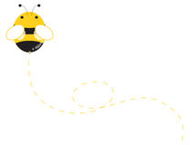 Cute bee royalty free illustration