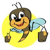 Cute bee. Cartoon vector illustration stock illustration