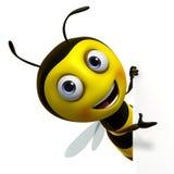 Cute bee. 3d cartoon sweet honey bee Royalty Free Stock Photography