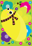Cute Bee Background_eps Royalty Free Stock Image