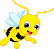 Cute bee cartoon Stock Photography