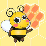Cute bee cartoon Stock Image