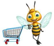 Cute Bee cartoon character Stock Image