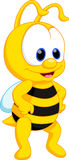 Cute bee cartoon Stock Photo