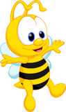 Cute bee cartoon Stock Photography