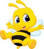 Cute bee cartoon Stock Photo