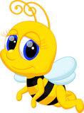 Cute bee cartoon Royalty Free Stock Photography