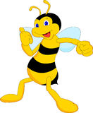 Cute bee cartoon Royalty Free Stock Photo