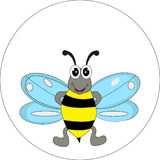 Cute bee cartoon for you design Royalty Free Stock Images