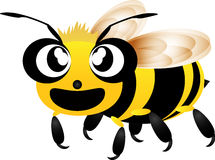 Cute bee flying cartoon Stock Images