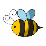 Cute bee flying icon Royalty Free Stock Photos