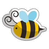 Cute bee flying icon Royalty Free Stock Image