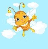 Cute Bee flying in the sky Royalty Free Stock Images