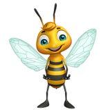 cute Bee funny cartoon character Stock Photo
