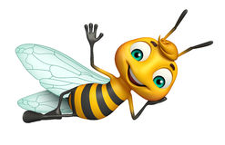 Cute Bee funny cartoon character. 3d rendered illustration of Bee funny cartoon character stock illustration