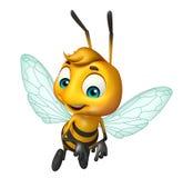 Cute Bee funny cartoon character Stock Image
