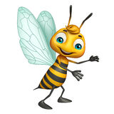 Cute Bee funny cartoon character Stock Photography
