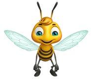 Cute Bee funny cartoon character Stock Photos