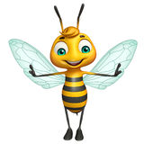 Cute Bee funny cartoon character Royalty Free Stock Photos