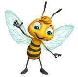 Cute Bee funny cartoon character Royalty Free Stock Photo