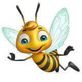 cute Bee funny cartoon character Royalty Free Stock Images