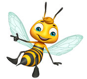 cute Bee funny cartoon character Stock Images