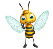 cute Bee funny cartoon character Stock Photography