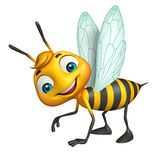 cute Bee funny cartoon character Royalty Free Stock Image