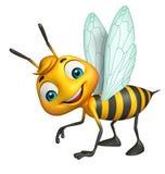 Cute Bee funny cartoon character Royalty Free Stock Image