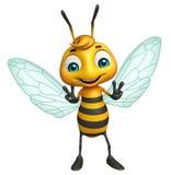 Cute Bee funny cartoon character Royalty Free Stock Photography